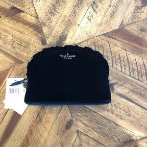 🆕 NWT Kate Spade M Briar Lane Velvet Cosmetic Bag